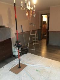 Peinture décoration deux tons d'une chambre réalisé par la société Hainaut services deco à Orchies