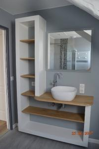 création meuble de salle de bain à beuvry la foret réalisé par HAINAUT SERVICES DECO