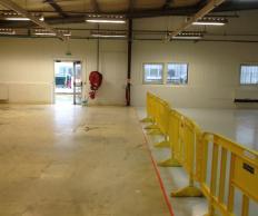 Peinture murs et sol usine SKF Prouvy Rouvignies