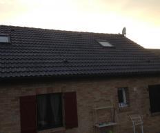 Démoussage et peinture sur toiture à Douchy les mines
