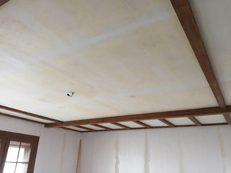 Peinture poutre bois plafond photos de conception de for Poutre decorative plafond